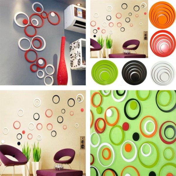 Оригинальные наклейки на стену KXAAXS (5 цветов, 5 шт)
