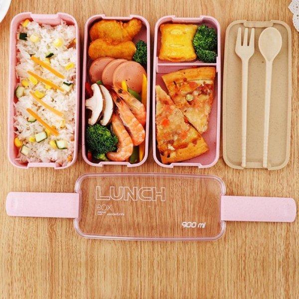 Трехуровневая коробка для обедов от CPLIFE (900 мл, 3 цвета)