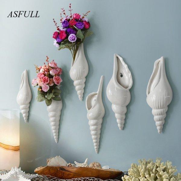 Настенная ваза Ракушка от ASFULL (3 вида)