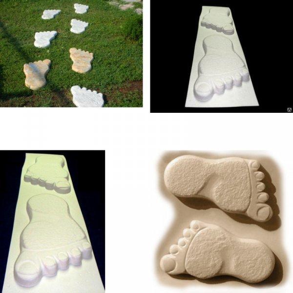 Форма для тротуарной плитки След гиганта от LIBERWOOD (57*30*4,5 см, 2 шт)
