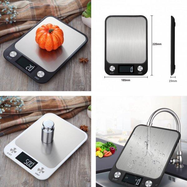 Цифровые кухонные весы из нержавеющей стали с ЖК экраном