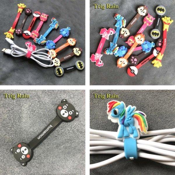 Забавная прищепка Trig Rain для хранения USB кабеля (силикон, 8-12 см)