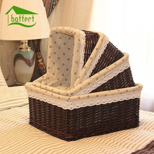 Бамбуковая плетеная корзина от BAFFEKT (в ассортименте)