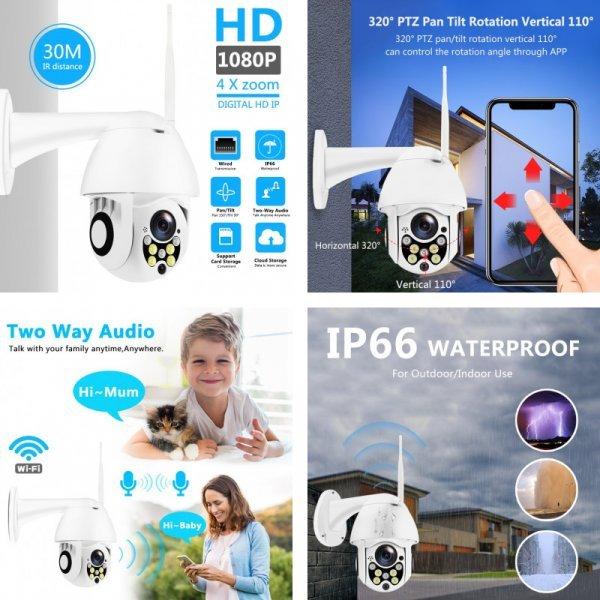 Беспроводная наружная камера (5 видов)