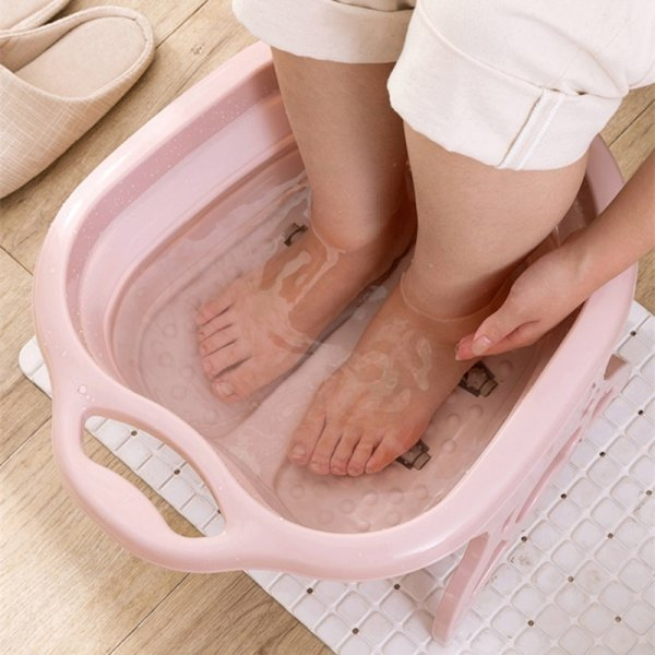 Складная ванна с роликами для массажа для ног (3 цвета)