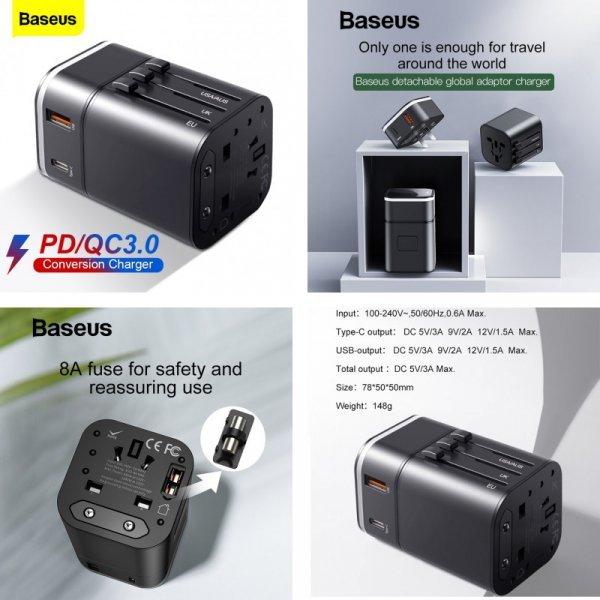 Универсальное зарядное устройство Baseus с USB