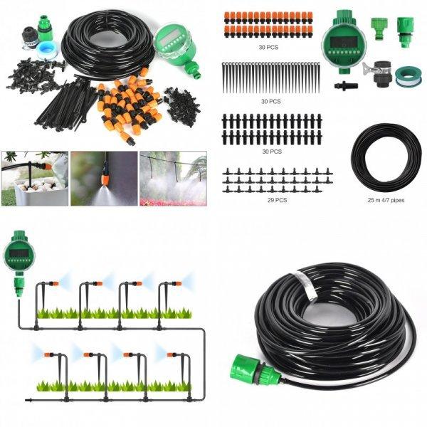 Садовый шланг и система для капельного полива BORUIT (25 м)