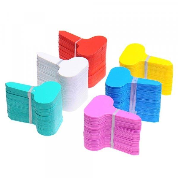 Таблички для клумб и грядок из пластика (100 шт)
