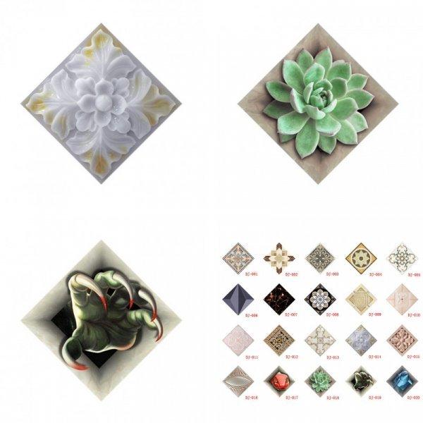 Плитки с цветочным узором