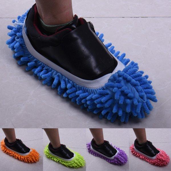 Чумовые тапочки для сухой уборки (1 шт, 4 цвета)