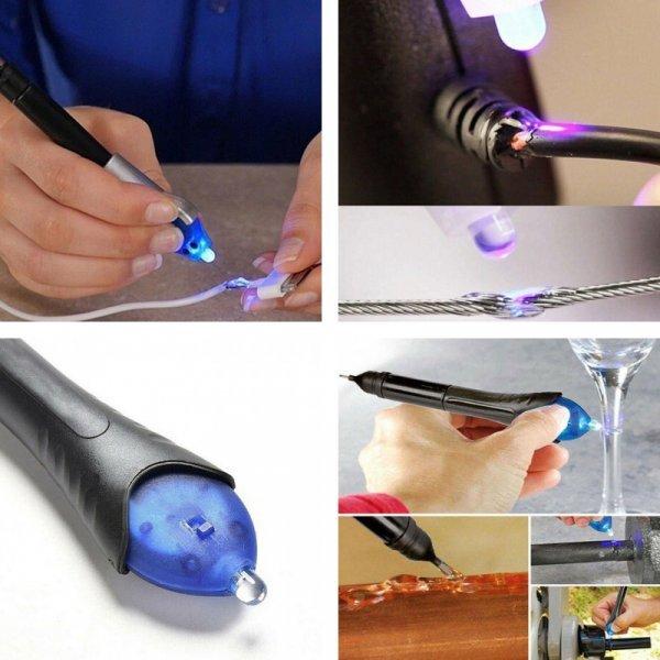 Секундный клей-карандаш с УФ-подсветкой