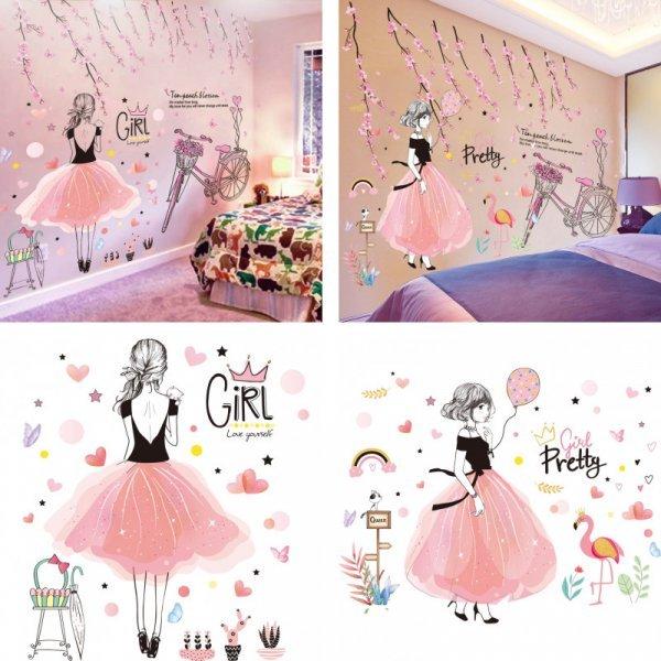 Шикарные наклейки в комнату девочки SHIJUEHEZI (3 вида)
