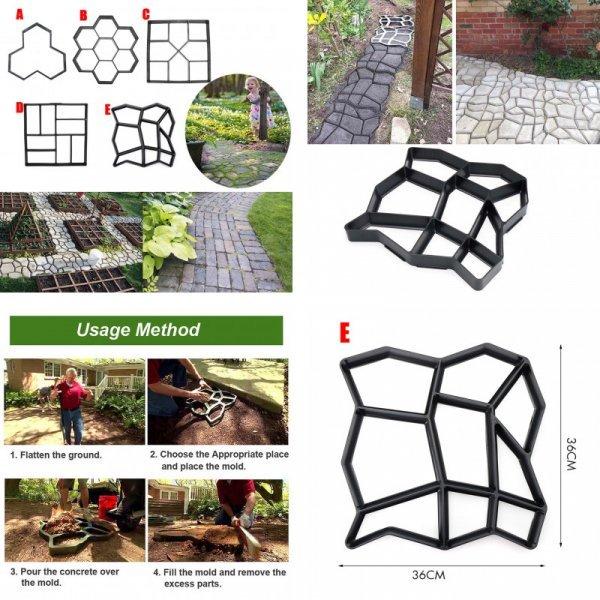 Формы для бетонных дорожек от LIUBINEE ((5 видов)