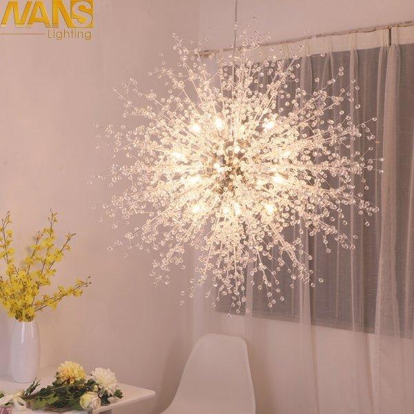 Люстра акриловая для столовой, гостиной от NANS-lighting (4 размера)