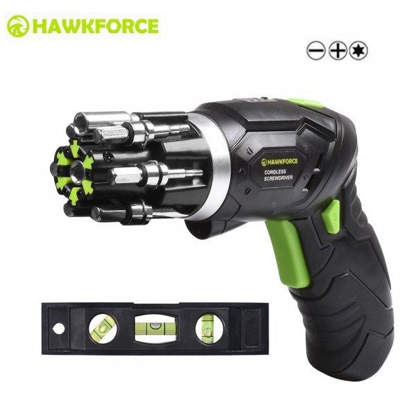 Аккумуляторная отвертка от HAWKFORCE (2 комплектации)