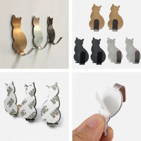 Самоклеящиеся котики-крючки