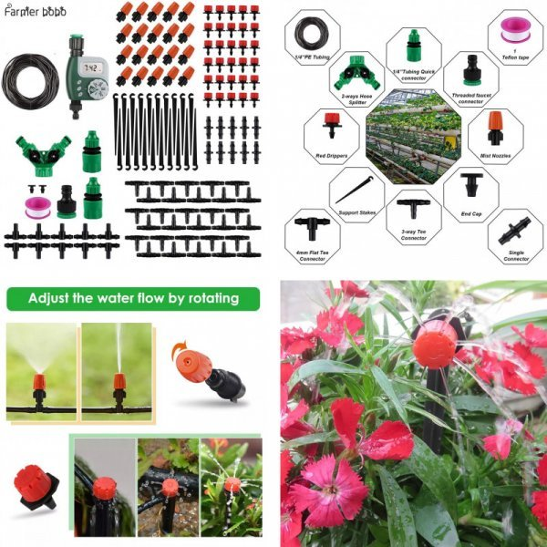 Комплект для капельного орошения от FARMER BOBO (11 видов)