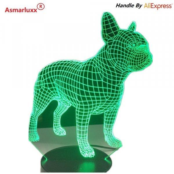 Крутой 3D ночник - голограмма Asmarluxx (7 режимов)