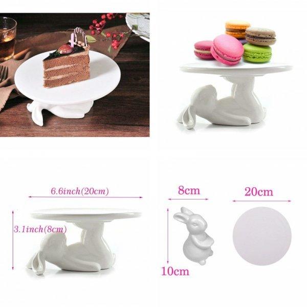 Чудесная тарелка для десерта  Зайка (керамика, 2 вида)