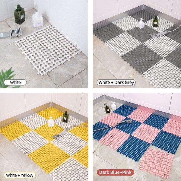 Комбинированный коврик для ванной