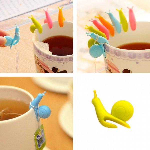 Милые улитки для заваривания чая от DESERTCREATION (4 цвета)