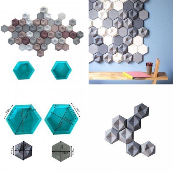 Силиконовые шестигранные молды от AIHOME (2 вида)