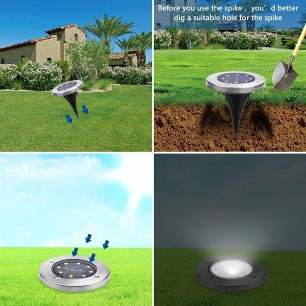 Набор солнечных светильников для сада (влагозащитные 8 шт)