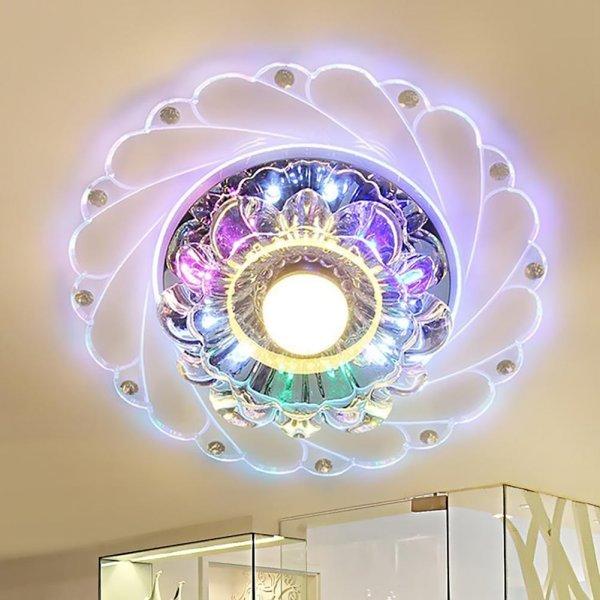 Кристальный светильник от ELETORON (диаметр 20 см, 4 вида)