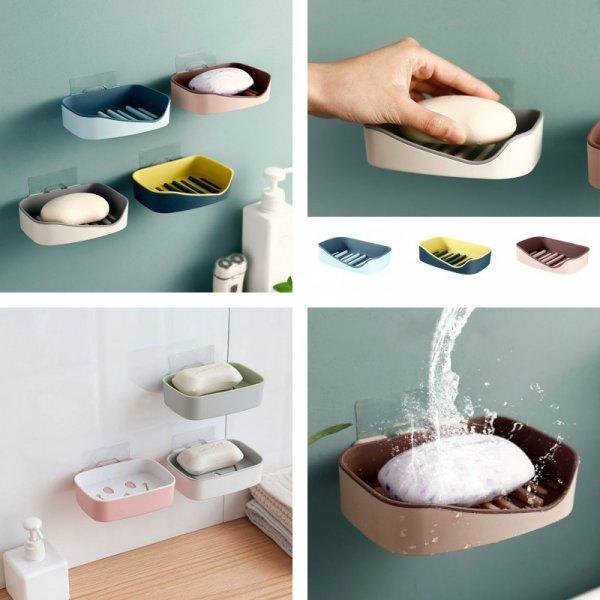 Настенная мыльница (4 цвета, 3 вида)