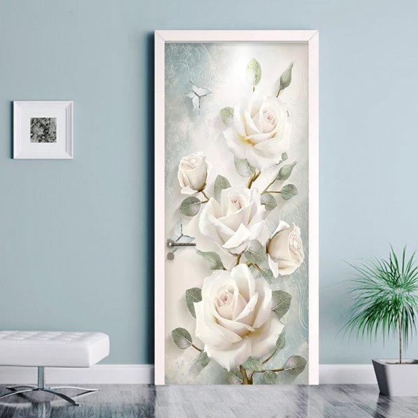 Наклейка для двери Розы (2 размера)