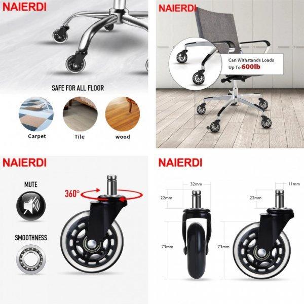 Набор колёсиков для кресел от NAIERDI
