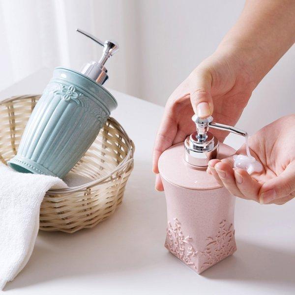 Декоративный дозатор для жидкого мыла Halojaju (400 мл, 3 цвета)