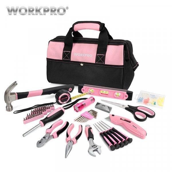 Розовый набор от WORKPRO (75 предметов)