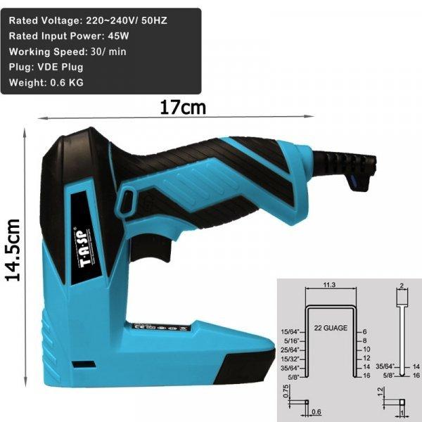 Легкий электрический степлер TASP MESG45 со скобами