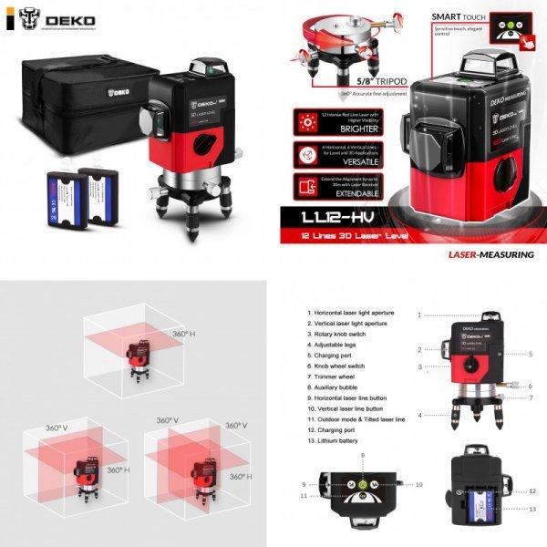 Лазерный 3D уровень DEKO LL12-HVR