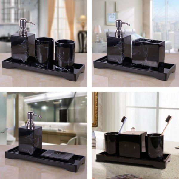 Чёрный набор для ванной