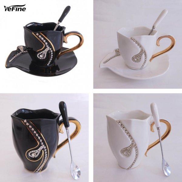 Чайное трио из костяного фарфора от YeFine (2 цвета)
