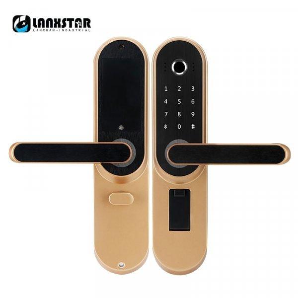 Электронный дверной замок с ручкой для входной двери Lanxstar
