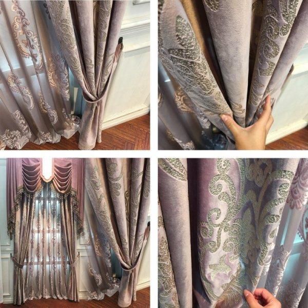 Бархатистые шторы для спальни и гостиной JESSANS )2 цвета, 7 размеров)