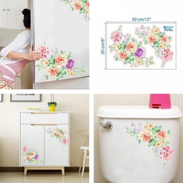 Роскошная наклейка Цветы на холодильник  (20*30 см)