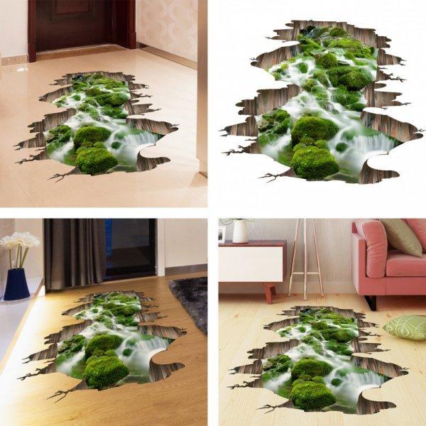 Эффектная 3D наклейка на пол или потолок