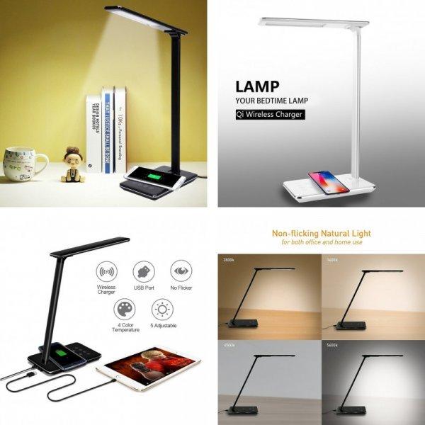 Настольная лампа с беспроводной зарядкой Eletorot (2 цвета)