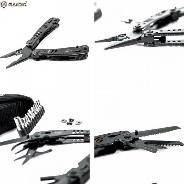Мультипул плоскогубцы со сменными губками Ganzo