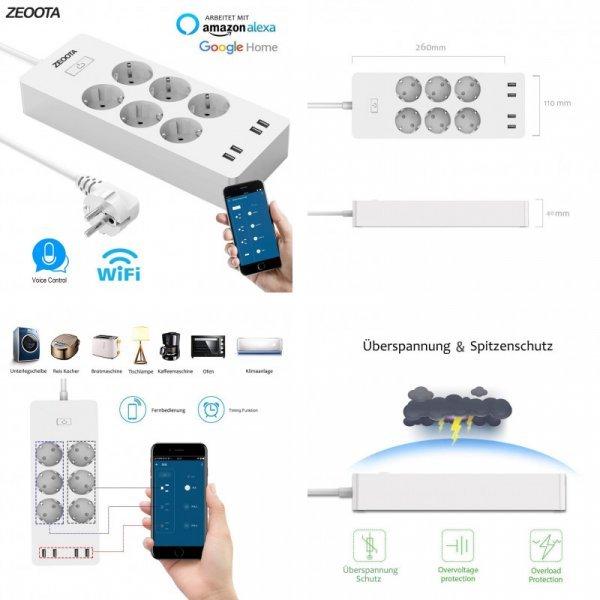 Система умный дом на 4 USB порта и 6 слотов Zeoota (с WiFi )