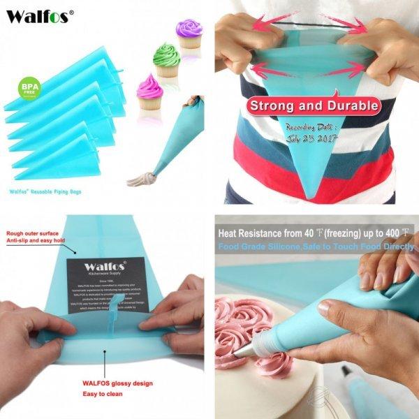 Кондитерский мешок для вкусных шапочек на кексе WALFOS (4 размера)