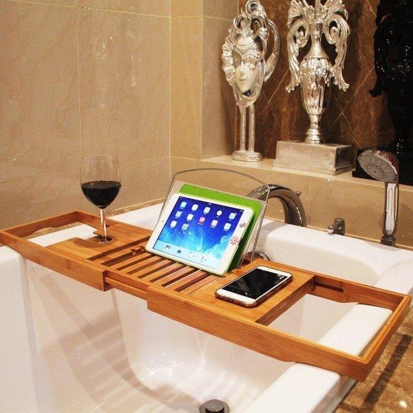 Раздвижная полка-столик для ванной от XUEGIN