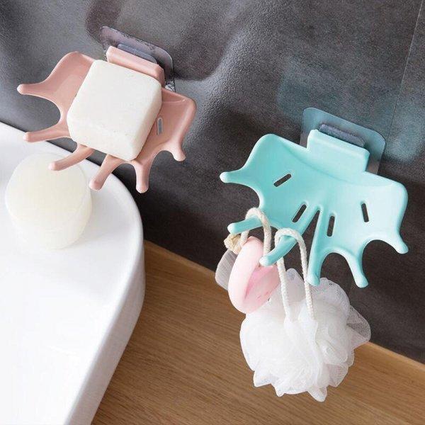 Стильная мыльница с крючками (3 цвета)