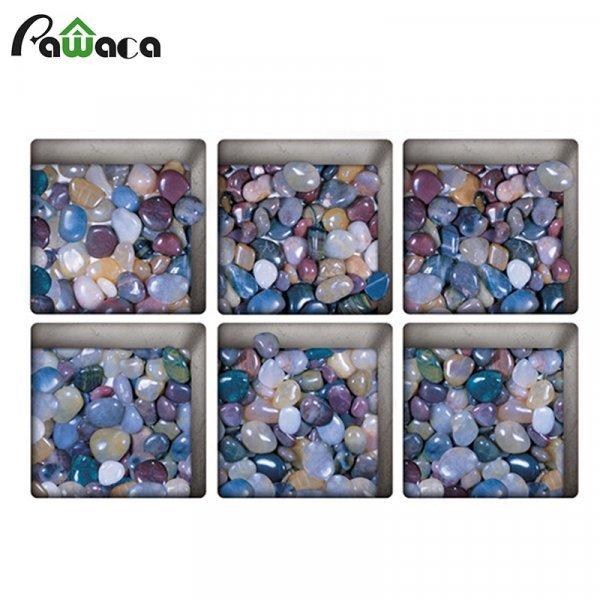 Нескользящие 3D наклейки для ванной от PAWACA (6 шт, 7 принтов)