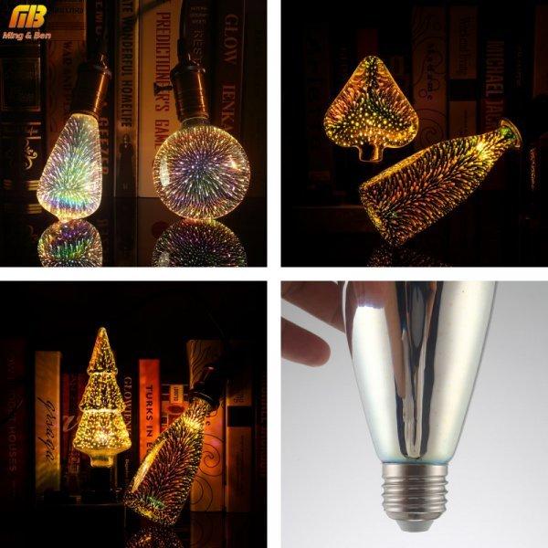 Лампочка-салют  от MING&BEN (Е-27, 4 W, 5 видов)