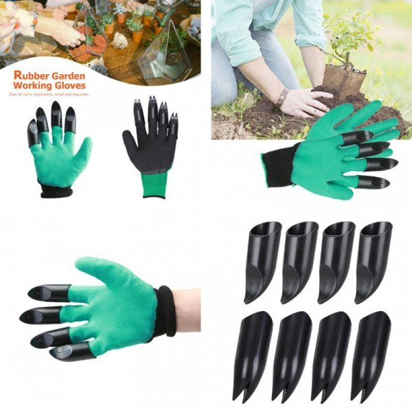 Садовые перчатки с когтями Alloet